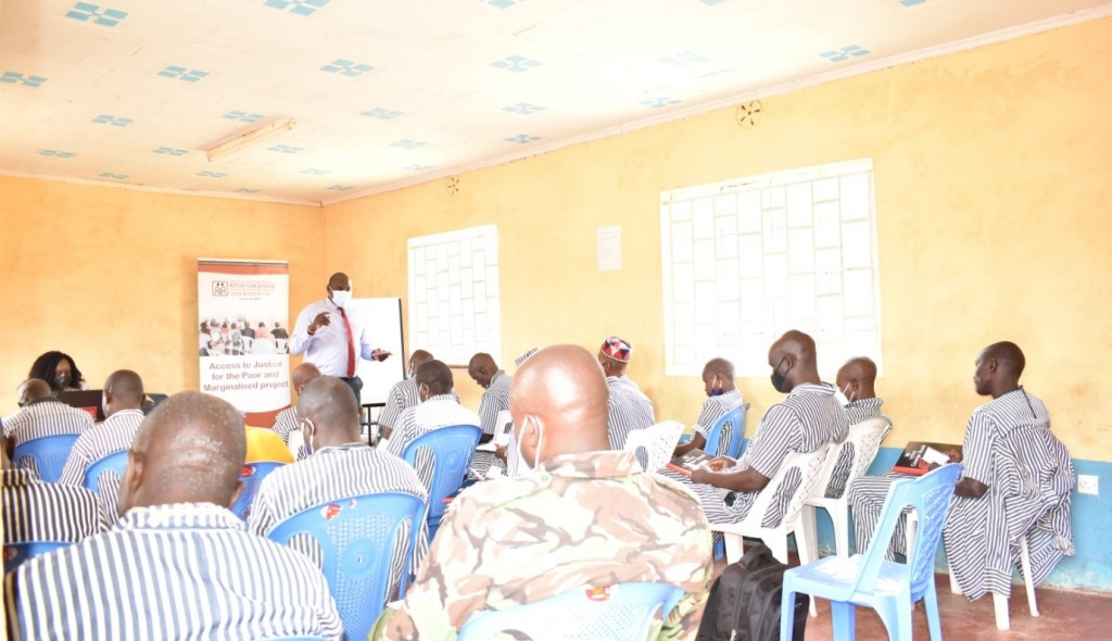 The inmates and officers attending the 1-week paralegals training at the Naivasha Medium Prison
